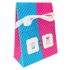 Bow Or Bowtie Favor Box w Ribbon - nyea's Party Store