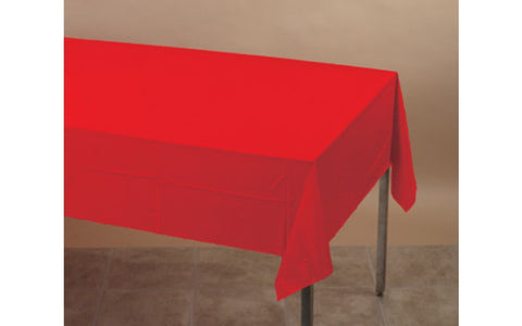 Red 54 x 108 Plastic Table Cover - nyea's Party Store