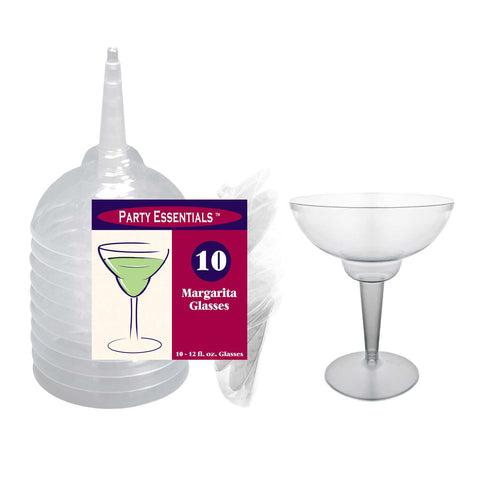 Clear Margarita Glasses - nyea's Party Store