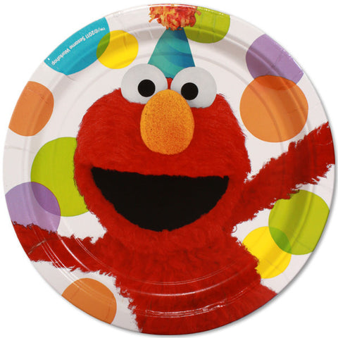 "9"" Plate Elmo's Party - nyea's Party Store"