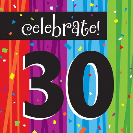 "Milestone ""30"" Lunch Napkins - nyea's Party Store"