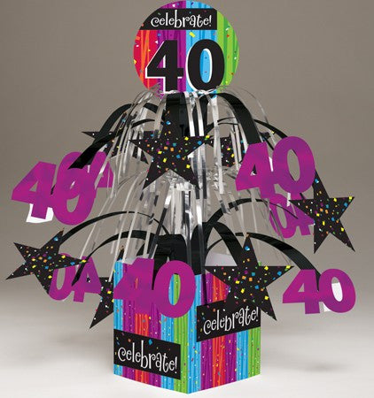 "Milestone ""40"" Tabletop Centerpiece - nyea's Party Store"