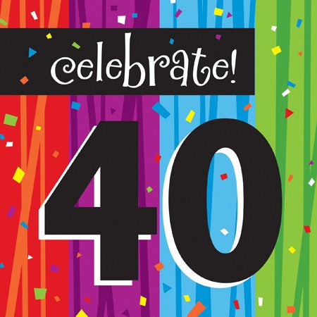 "Milestone ""40"" Lunch Napkins - nyea's Party Store"