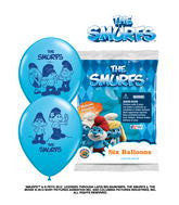 "12""  The Smurfs Latex Balloons"