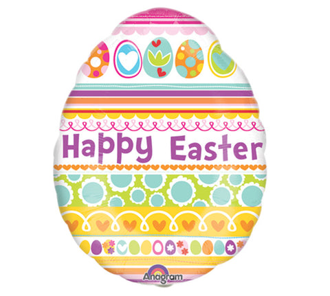 "14""FLAT Mylar  EASTER EGG Balloon - Nyea's Party Store"