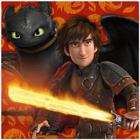How to Train Your Dragon 2 Lunch Napkins - nyea's Party Store