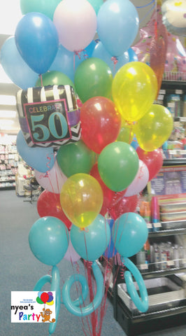 50th Birthday Bouquet - Nyea's Party Store