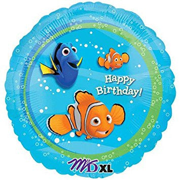 "18"" Pkg Happy Birthday  Nemo Foil Balloon"