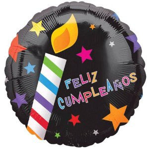 "18"" Feliz Cumpleanos Candle Balloon - Nyea's Party Store"