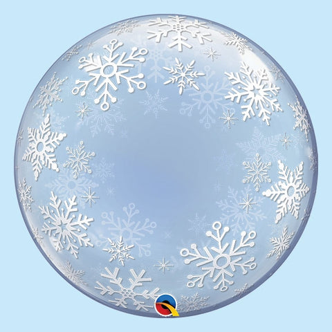 "Snowflake 24""  Frosty Snowflakes Bubble Balloon"