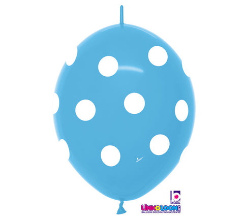 "12"" Polka Dot Turquoise Latex Balloons - Nyea's Party Store"