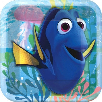 "Finding Dory 7"" Square Plates - nyea's Party Store"