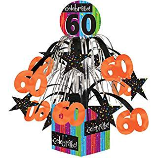 "Milestone ""60"" Tabletop Centerpiece"