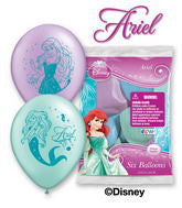 "11"" Assorted Latex  Ariel Balloons"