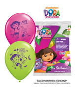 "12"" Asst Dora The Explorer Latex Balloons"