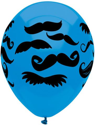 "12"" Round Mustaches Wrap 6CT"
