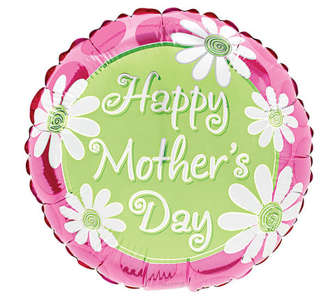 "9""Happy Mother's Day  DAISIES & DOTS Balloons - nyea's Party Store"