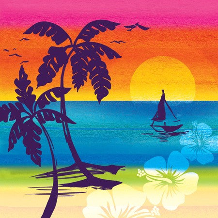 Aloha Summer 3-Ply Lunch Napkins - nyea's Party Store