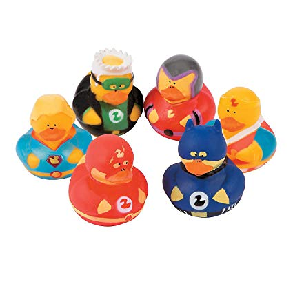 Super Hero Duck Squirt Favors