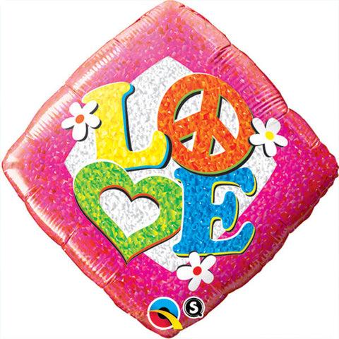 "18"" Love Peace Sign Foil Balloon #535"