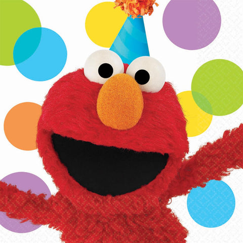 Lunch Napkin Elmos Party - nyea's Party Store