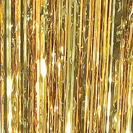 Metallic gold fringe Curtain - nyea's Party Store