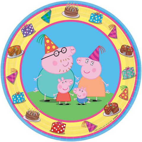 "7"" Round Plate Peppa Pig - nyea's Party Store"