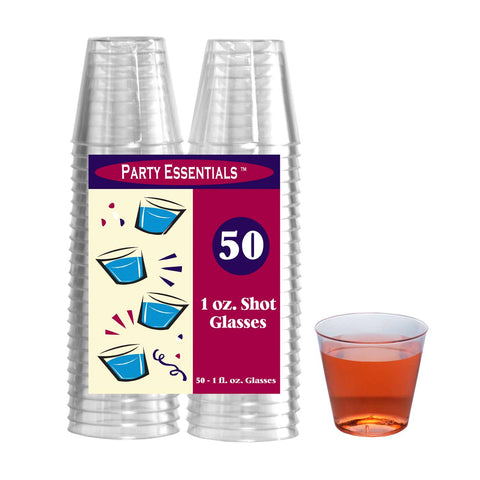 Clear 1oz Shot Glasses 50Ct. - nyea's Party Store    - 1