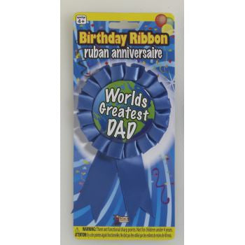 AWARD RIBBON - WORLDS GREATEST DAD - nyea's Party Store