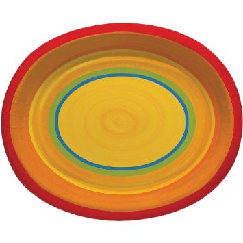 Cinco de Mayo Ablaze 12 inches Paper Plates - nyea's Party Store