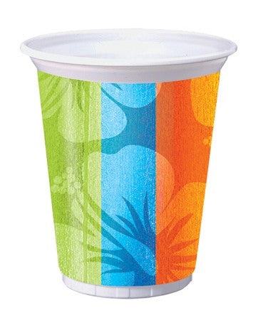 Aloha Summer 16 Oz Printed Plastic Cups - nyea's Party Store