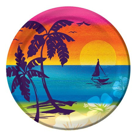"Aloha Summer 7"" Lunch Plates - nyea's Party Store"