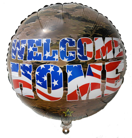 "Welcome Home 18"" American Heroes Foil Balloon"