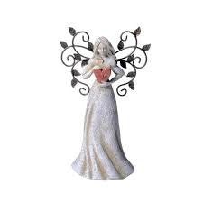 Decorative Angel Statue with Heart - nyea's Party Store