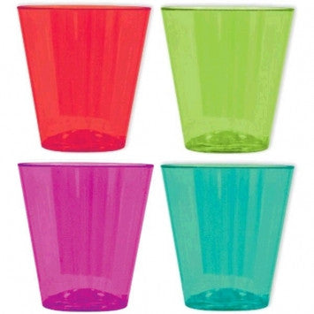 Color Fiesta Plastic Shot Glasses - Catering - nyea's Party Store