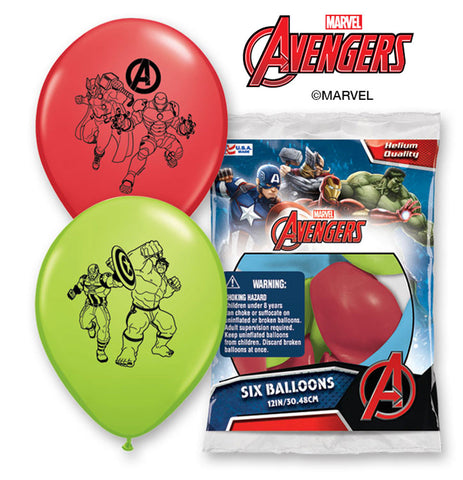 "12"" Avengers Assemble Latex Balloons"