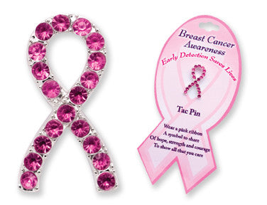 Breast Cancer Awareness Gleaming Tac Pin - nyea's Party Store