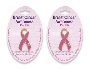 Breast Cancer Awareness Enamel Tac Pin - nyea's Party Store