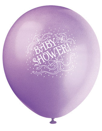 Printed Baby Shower Latex Balloons