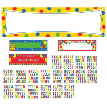 Balloon Fun Personalized Giant Sign Banner Kit - nyea's Party Store