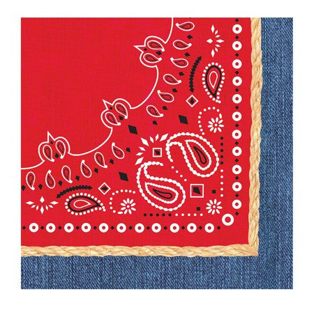 Bandanarama 3-Ply Lunch Napkins - nyea's Party Store