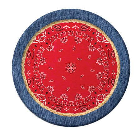 "Bandanarama 9"" Dinner Plates - nyea's Party Store"