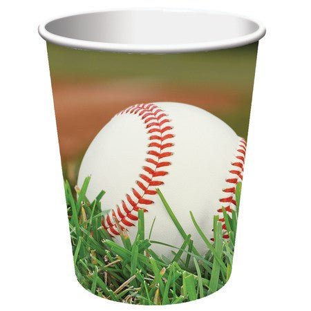 Baseball 9 Ounce Paper Cups - nyea's Party Store