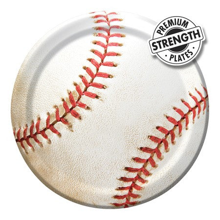 Baseball 7 Inch Lunch Plates - nyea's Party Store