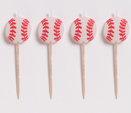 Baseball Pick Candles - nyea's Party Store