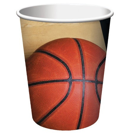 Basketball - 9 Ounce Cups - nyea's Party Store