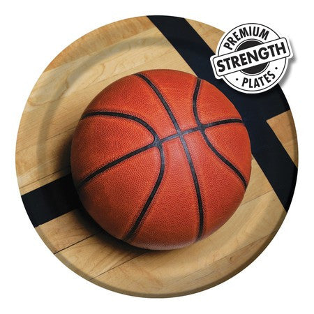 Basketball - 9 Inch Dinner Plates - nyea's Party Store