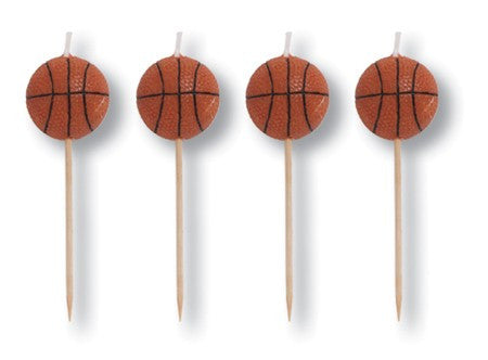 Basketball Candle Picks - nyea's Party Store