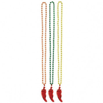 Cinco de Mayo Necklace w/Plastic Chili Pepper - nyea's Party Store