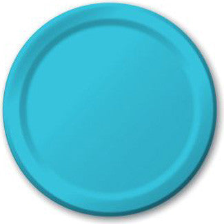 Bermuda Blue 7 inches Lunch/Dessert Paper Plates - nyea's Party Store